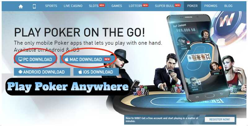 How to Use the W88 Poker App